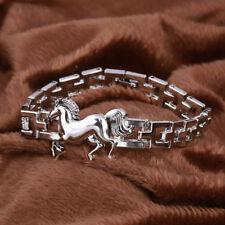 Men's Titanium Steel Running Horse Bracelet Clasp Bangle Jewelry Birthday Cheap