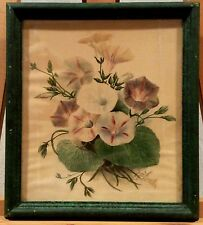 ORIGINAL WATER COLOR BY MB FANELLI MORNING GLORY O
