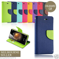 Flip Gel Leather Wallet Case Cover For Huawei Ascend G8