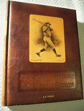 Vintage Book Pictorial History of American Sports 1952
