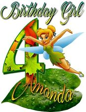 Personalized Tinker-Bell Birthday T-Shirt