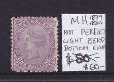 Quennsland: 1879-80 1/ Lilac Qv Part Original Gum Mh Wmk Crown And Q Sg144/5?
