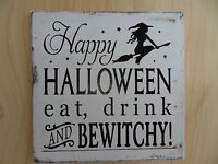 Shabby Happy Halloween Bewitchy plaque/sign, chic and unique