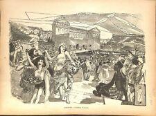 Comédie Romaine Rome antique antiquité par Georges Récipon peintre GRAVURE 1886