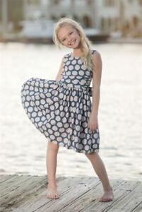 Gorgeous PERSNICKETY Size 3 Sail Away Blue Dot Corset Dress