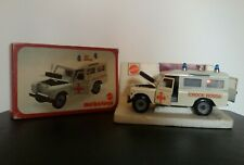 1977 MEBETOYS LAND ROVER CROCE ROSSA AMBULANCE 8581 1:25 VERY GOOD IN BOX RARE