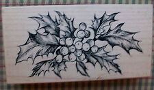 PSX  CHRISTMAS HOLLY RUBBER STAMP K-1826
