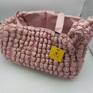 Pet Life ® 'Bubble Vogue' Ultra-Plush Fashion Designer Pet Carrier Pink