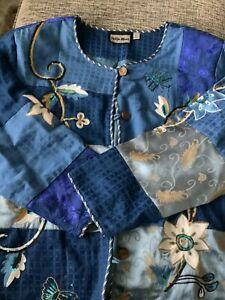 Ladies Indigo Moon embroidered jacket size 3xl