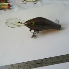 """FISHING LURE  POE'S    4½""""  OVERALL  MINNOW  DARK RED SCALES"""