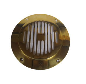 Solid Brass Air Vent - Circle Brass Grill Cover Antique Ventilation