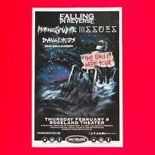 Falling In Reverse + Miw 2017 Original 11x17 Concert Promo Poster. Portland Or.