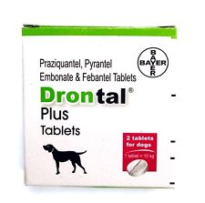 Drontal Plus for Dog 2 tablets Roundworm and Tapewormer 1 tablet for 10 kg