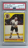 1985-86 O-PEE-CHEE Ray Bourque BOX BOTTOMS *PSA AUTHENTIC* Boston Bruins #B