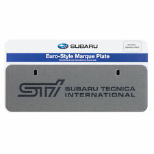 OEM Subaru STI Euro-Style Marque License Plate Stainless Steel Silver SOA342L132