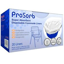 Pack of 20 Prosorb Super Absorbent Disposable Commode/Bed Pan Liners