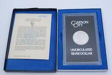 1883 Carson City Morgan Silver One Dollar $1 Coins GSA in case