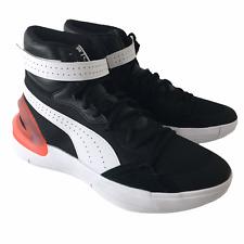 Puma Hoops Basketball Sky Black White Lifestyle Sneaker 194042-04 SIZE 10.5