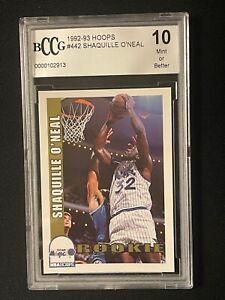 1992-93 NBA Hoops #442 Shaquille O'Neal Rookie RC - Beckett BCCG 10 Mint+