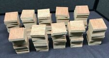 100 Pcs 2x2 Inch Wood Square Wooden Pieces Blank Craft Woodwork Art Projects