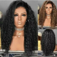 Long Curly Fluffy Wig Corn Whisker African Syntheic Lace Front Hair