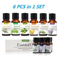 6 PCS 10ml Essential Oils Kit Set 100% Pure Aromatherapy Oils Fragrance Aroma US