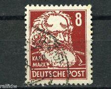DDR 8 Pfg. Marx 1952 Druck auf Gummiseite Michel 329 v XI G Attest (S7798)