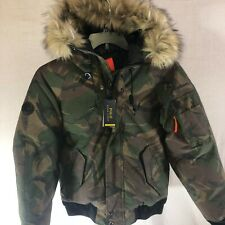 NWT Polo Ralph Lauren Performance Feather Down Coat Fur Hood Size Small $498