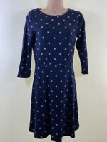 JOULES navy blue thick stretch jersey spotty polka dot tea dress size 10 euro 38