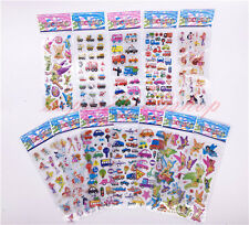 12sheets Stickers 3D Cartoon Kids Scrapbooking School Reward Xmas gift