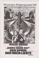 JAMES BOND SPY WHO LOVED ME GERMAN PHANTOPIA 4 PAGE FILM PROGRAM ROGER MOORE