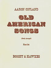 SHEET MUSIC AARON COPLAND OLD AMERICAN SONGS BOOSEY & HAWKES