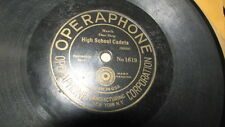 "OPERAPHONE 78 RPM RECORD PAIR 8"" DISCS DANCE BAND / ORCHESTRA CHIENSE BLUES"