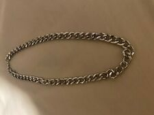new womens unisex silver curb chain chunky street style necklace urban BOOHOO