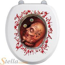 Cut Off Head Toilet Seat Sticker Halloween Fancy Dress Party Bathroom Decoration