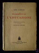 Frammenti su l'educazione - G. Capponi 1937