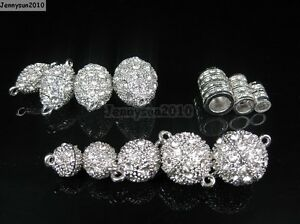 10 Set Crystal Rhinestone Strong Magnetic Connector Clasp For Bracelet Necklace