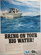 """1974 OMC Stern Drive Ad-8.5 x 10.5""""-Bring On Your Water"""