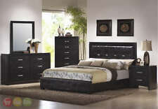 Dylan Modern King upholstered Bed 6 Piece Bedroom Set Chest Included 201401KE