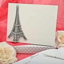 Paris Eiffel Tower Wedding Guest Book Signature Reception Gift France Bridal