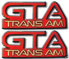 NEW Pontiac Trans Am GTA Fender Emblem Pair (11 Colors)