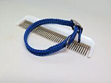 Soft Blue Collar and Comb Dog Cat Adjustable Metal and Plastic Lot of 2 Pcs