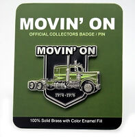 Movin On Moving on Kenworth W-925 TV Metal Solid brass Semi Truck Peterbilt