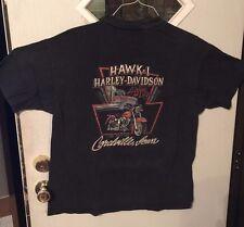Men's Biker T-shirt - Pre-owned Hawk-1 Coralville, Iowa Harley Davidson  (#28-S)