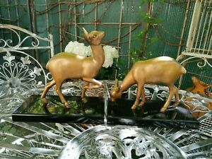 Old French Art Deco fawn bookends marble metal rare