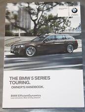 GENUINE BMW 5 SERIES F11 ESTATE HANDBOOK OWNERS MANUAL 2013-2017 BOOK