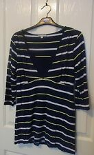 TARGET COLLECTION Ladies long sleeved striped top size 14