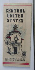 1951 Central United States  road   map ACSC   oil gas route 66