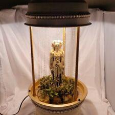 """Vintage Creators Inc. Triple Greek Goddess 32"""" Mineral Oil Rain Swag Lamp Light"""