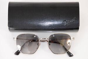 Persol 2446-S silver logo polarized gradient square frame sunglasses NEW $350